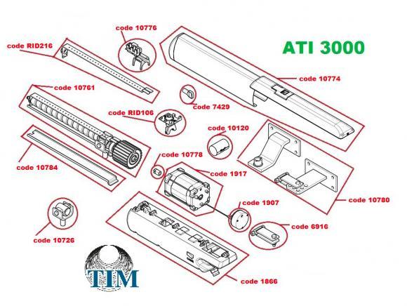 Pièces détachées pour Moteur CAME ATI 3000