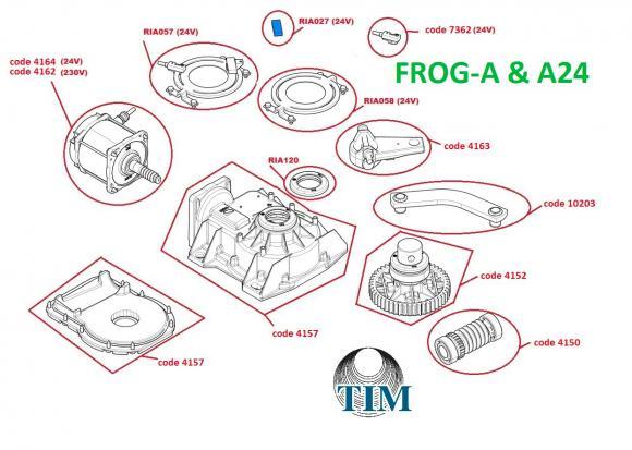 Pièces détachées pour Moteur CAME FROG-A & FROG-A24