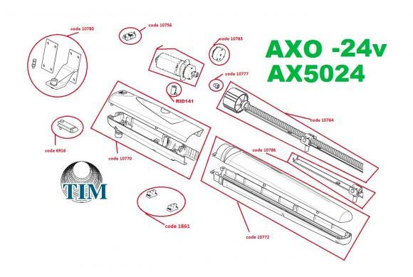 Pièces détachées pour Moteur CAME AXO AX5024 (24v)