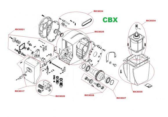 Pièces détachées pour Moteur CAME CBX