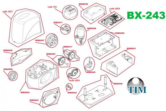 Pièces détachées pour Moteur CAME BX 243