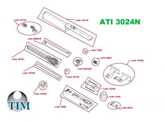 Pièces détachées pour Moteur CAME ATI 3024N