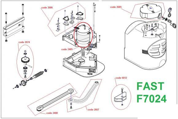 Pièces détachées pour Moteur CAME FAST F7024