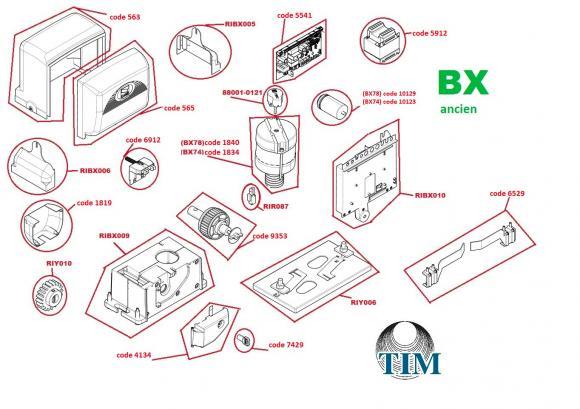 Pièces détachées pour Moteur CAME BX (ancien)