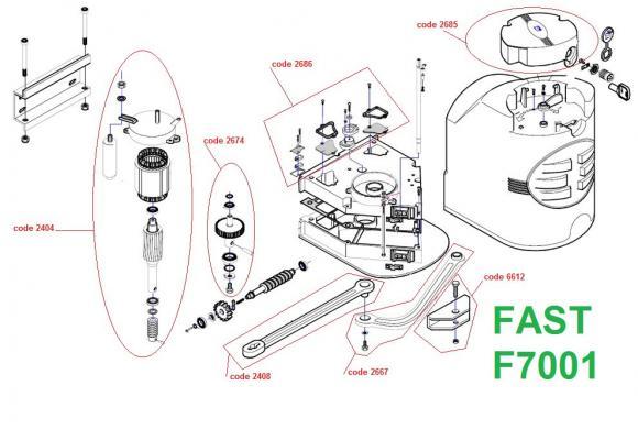 Pièces détachées pour Moteur CAME FAST F7001