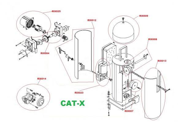 Pièces détachées pour Moteur CAME CAT-X