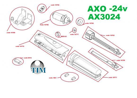 Pièces détachées pour Moteur CAME AXO AX3024 (24v)