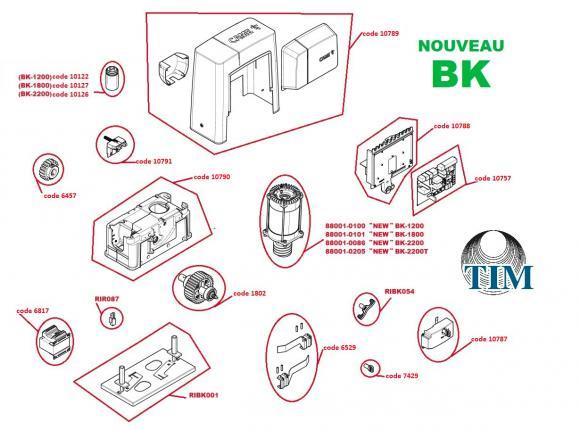 Pièces détachées pour Moteur CAME BK (nouveau)