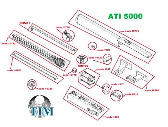 Pièces détachées pour Moteur CAME ATI 5000