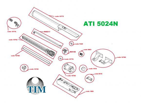 Pièces détachées pour Moteur CAME ATI 5024N